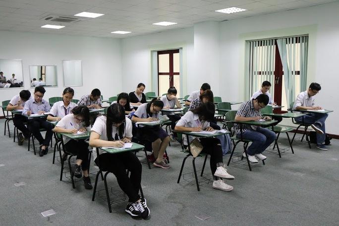 Một buổi thi tuyển sinh của Khoa Y Trường ĐH Tân Tạo. (Ảnh tư liệu của trường)