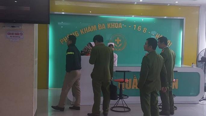 Lực lượng chức năng kiểm tra Phòng khám Đa khoa 168 Hà Nội