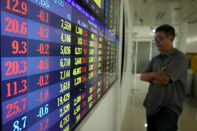 Cổ phiếu ngân hàng, bia rượu lao dốc, VN-Index bốc hơi gần 23 điểm - Ảnh 1.