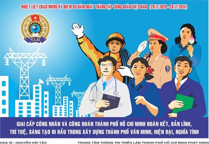Thi vẽ tranh cổ động chào mừng Đại hội lần thứ XII Công đoàn Việt Nam - Ảnh 1.