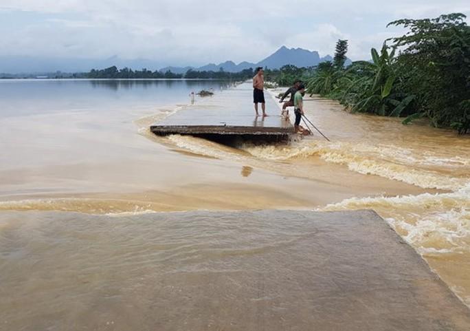 Hà Nội: Vỡ đê sông Bùi, nước ngập gần nóc nhà - Ảnh 1.