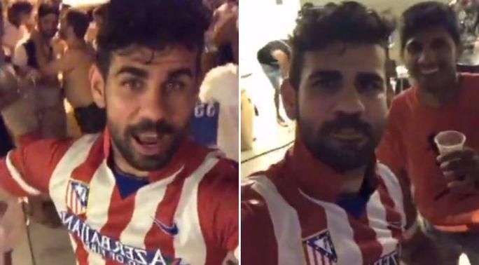Costa mặc áo Atletico, chọc tức Conte - Ảnh 1.