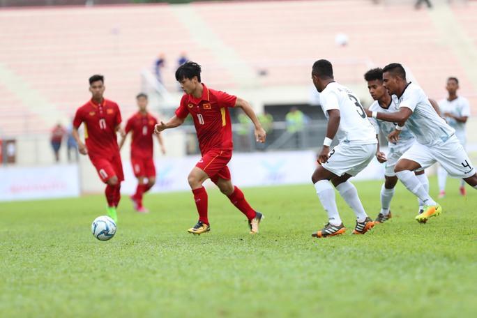 Thắng đậm Timor Leste, U22 Việt Nam dẫn đầu bảng B - Ảnh 8.