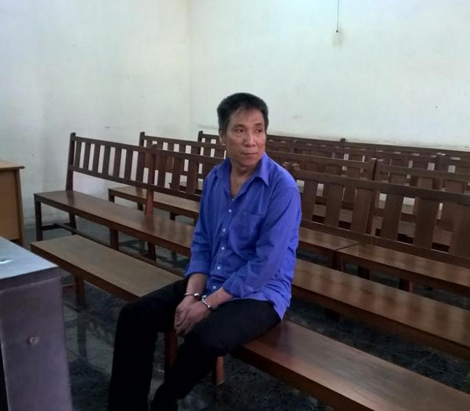Bị cáo Châu Văn Việt tại phiên tòa