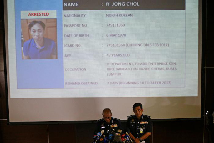 Cảnh sát Malaysia vẫn chưa tiết lộ vai trò cụ thể của nghi phạm Ri đằng sau cái chết của ông Kim Jong-nam. Ảnh: Reuters