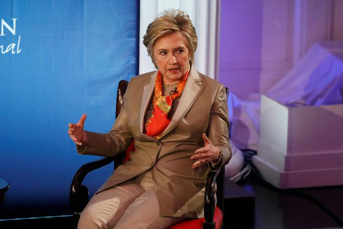 Bà Clinton trong buổi phỏng vấn ngày 2-5 ở New York - Mỹ. Ảnh: Reuters
