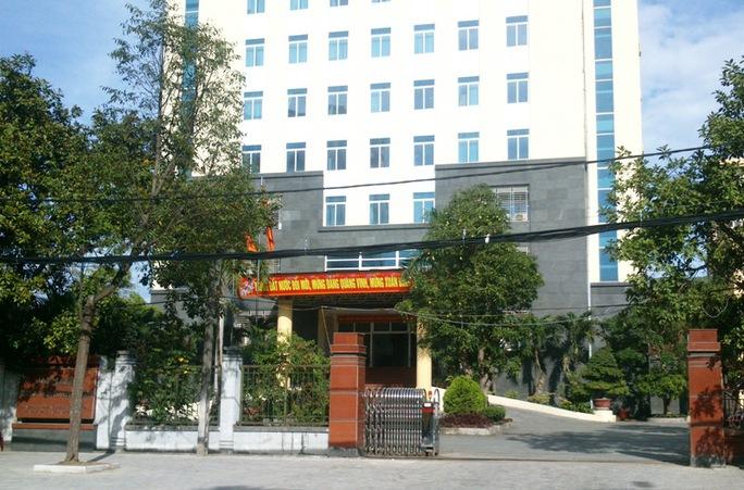 Sở TN-MT tỉnh Thanh Hóa, nơi bà Nguyễn Thị Vy đang công tác