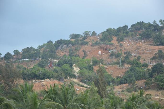 Khu vực xây dựng công trình tại bán đảo Sơn Trà