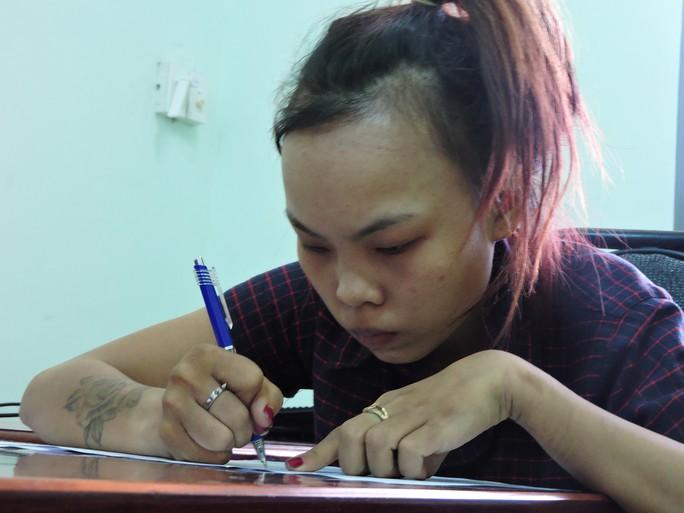 Trần Thị Tâm tại cơ quan điều tra