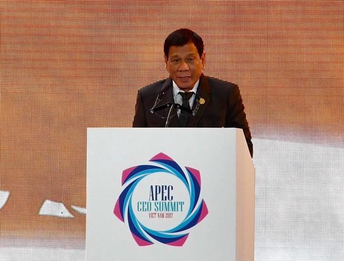 Tổng thống Philippines Duterte đăng đàn APEC 2017 - Ảnh 1.