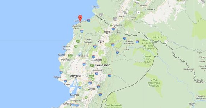 Vụ tai nạn lật xe ở Ecuador vẫn chưa nhiều thông tin. Ảnh: Google Maps