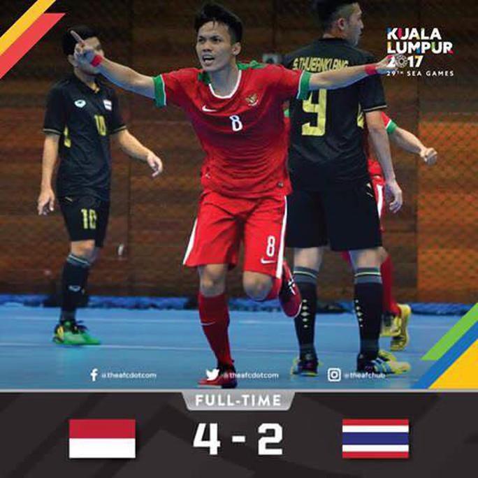 Futsal Indonesia hạ Thái Lan, Việt Nam còn cơ hội vô địch - Ảnh 1.