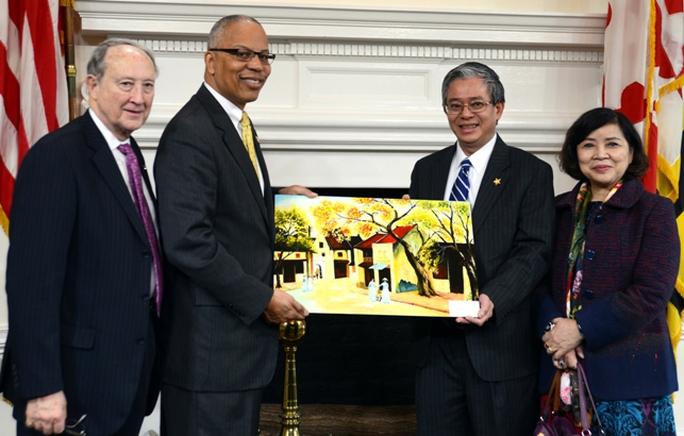 Đại sứ Việt Nam tại Mỹ Phạm Quang Vinh gặp Phó Thống đốc Rutherford