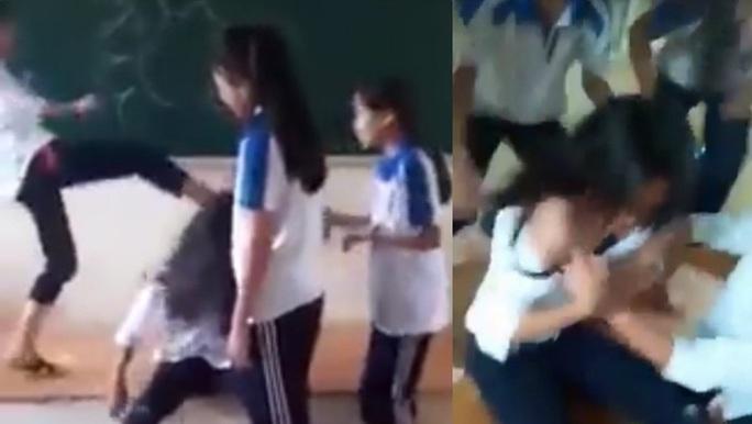 Đình chỉ học 6 nữ sinh đánh hội đồng, lột áo bạn giữa lớp - Ảnh 1.