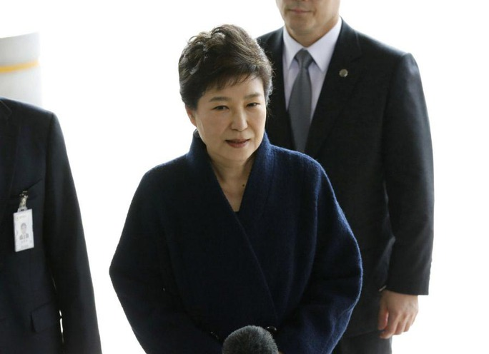 Cựu Tổng thống Hàn Quốc Park Geun-hye chính thức bị truy tố Ảnh: AP