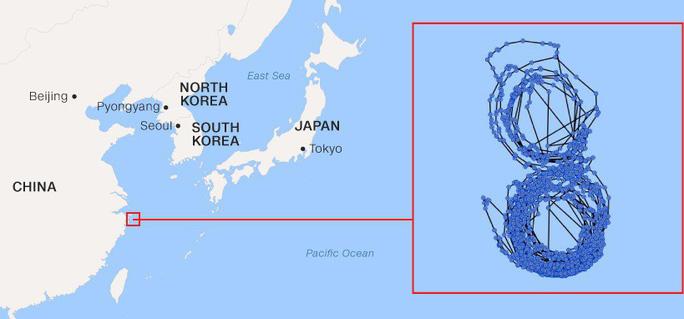 Bí ẩn con tàu Triều Tiên bị LHQ trừng phạt rồi chạy vòng tròn - Ảnh 2.