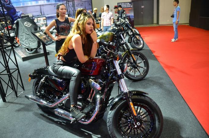 Các dòng xe của Harley Davidson được giới thiệu tại triển lãm
