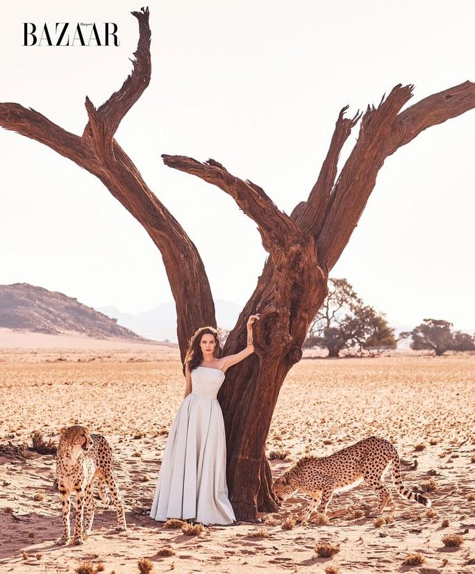 Angelina Jolie đẹp cùng báo đốm - Ảnh 1.