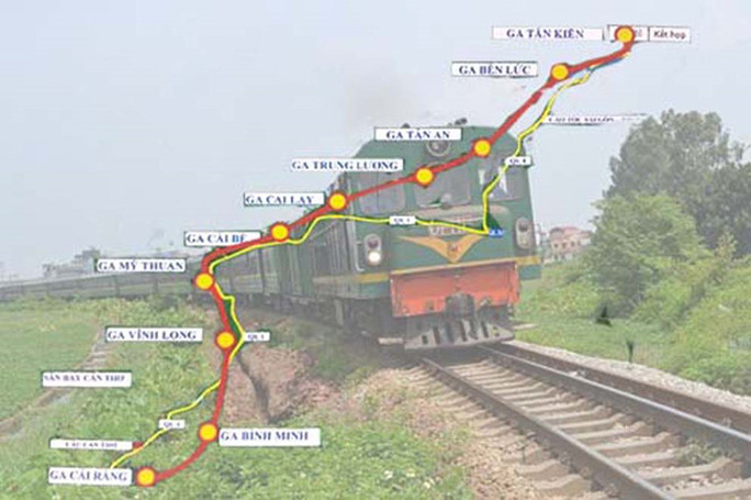 Đường sắt tỉ đô TP HCM - Cần Thơ - Ảnh 1.