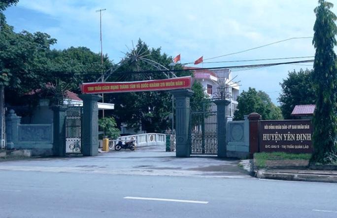 Huyện Yên Định, nơi đã xảy ra nhiều sai phạm trong việc tuyển dụng, bổ nhiệm cán bộ giai đoạn 2011-2015