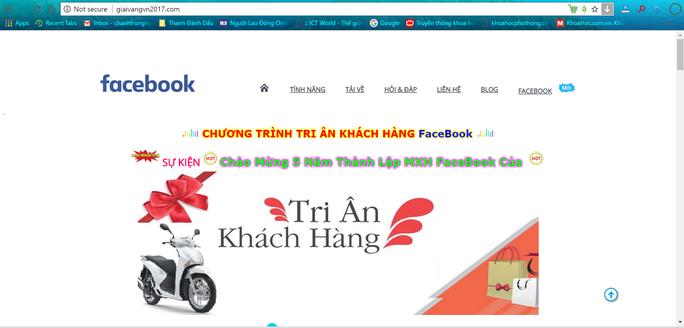 Sự kiện lừa đảo tuần lễ tri ân khách hàng năm 2018 của Facebook