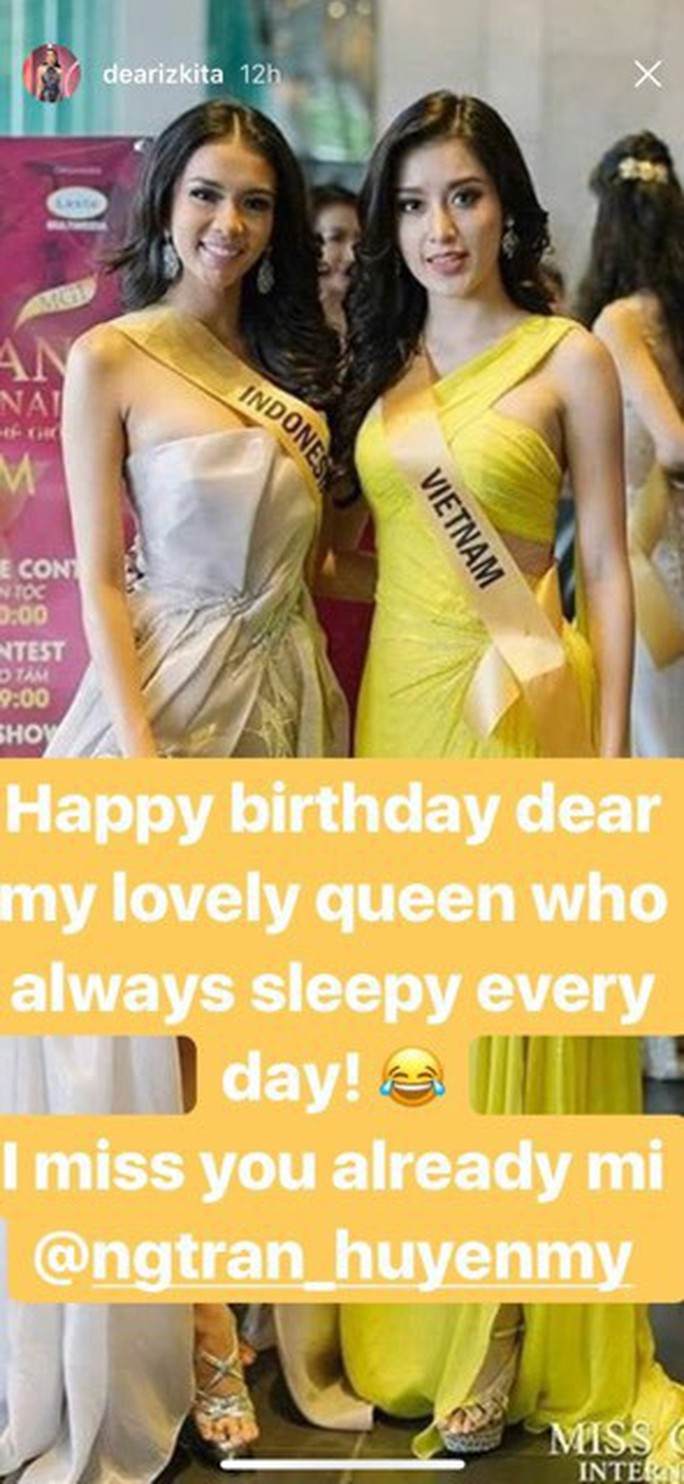 Huyền My được hoa hậu các nước gửi lời chúc mừng sinh nhật - Ảnh 4.