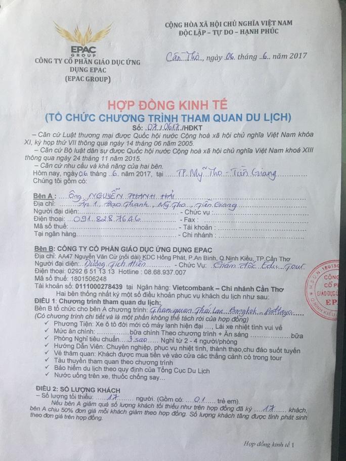 Tổ chức đi du lịch chui, 2 người bị bắt ở Thái Lan - Ảnh 2.