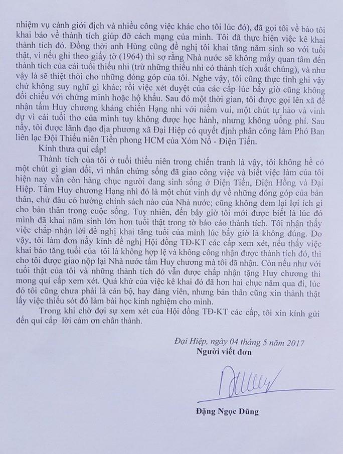 Bí thư có 4 năm sinh xin trả lại huy chương - Ảnh 3.