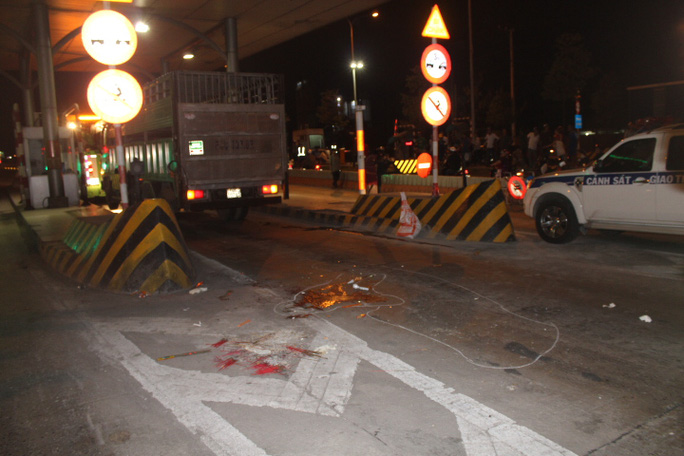 Vị trí CSGT bị tông tử vong và chiếc xe tải dừng