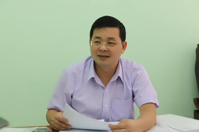 Ông Nguyễn Toàn Thắng, Giám đốc Sở TN-MT TP HCM trả lời phỏng vấn Báo Người Lao Động