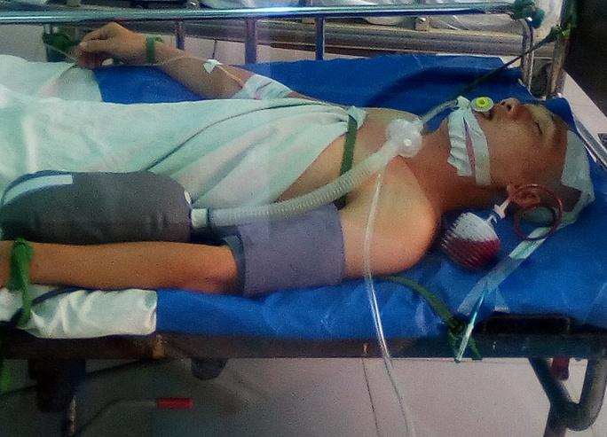 Bệnh nhân Nam khi vừa được phẫu thuật