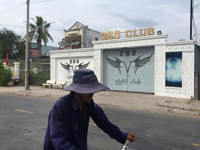 Trước quán 268 Club, nơi xảy ra vụ hỗn chiến