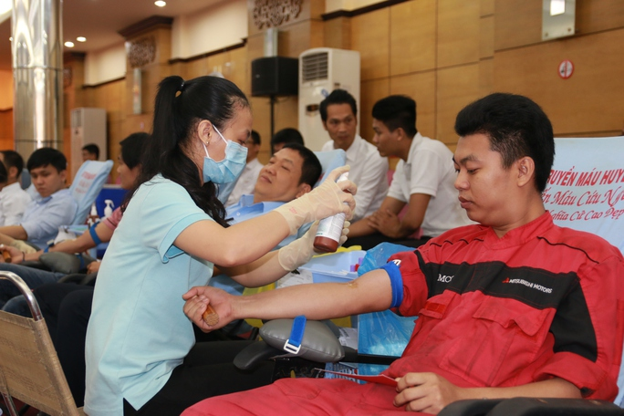 640 CNVC-LĐ SAMCO tham gia hiến máu nhân đạo - Ảnh 1.