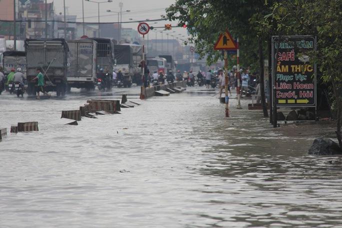 Mưa lớn, nhiều nơi ở Đồng Nai và Bà Rịa - Vũng Tàu ngập nặng - Ảnh 5.