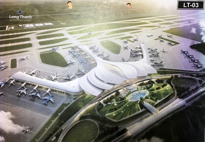 Phương án LT-03 với ý tưởng thiết kế nhà ga hành khách hình hoa sen - Ảnh: Xuân Tuyến