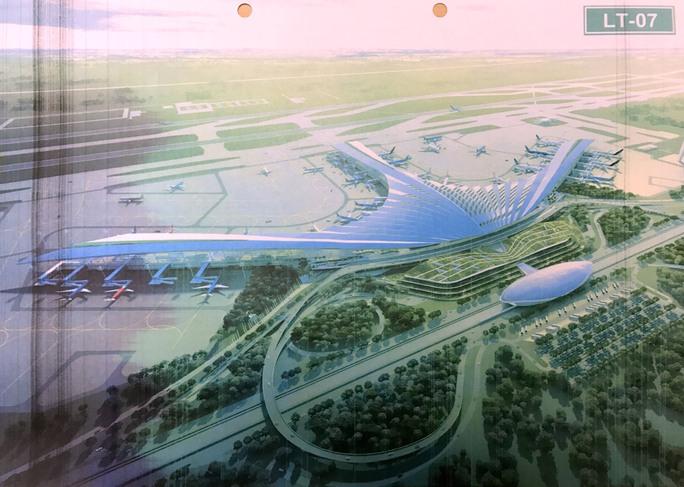 Phương án LT-07, với ý tưởng thiết kế nhà ga có hình dạng cây dừa nước được điểm cao nhất