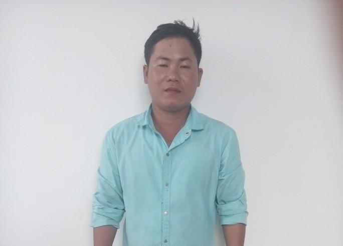 Đối tượng Nguyễn Văn Tài tại cơ quan điều tra, ảnh: Ng. Chiến