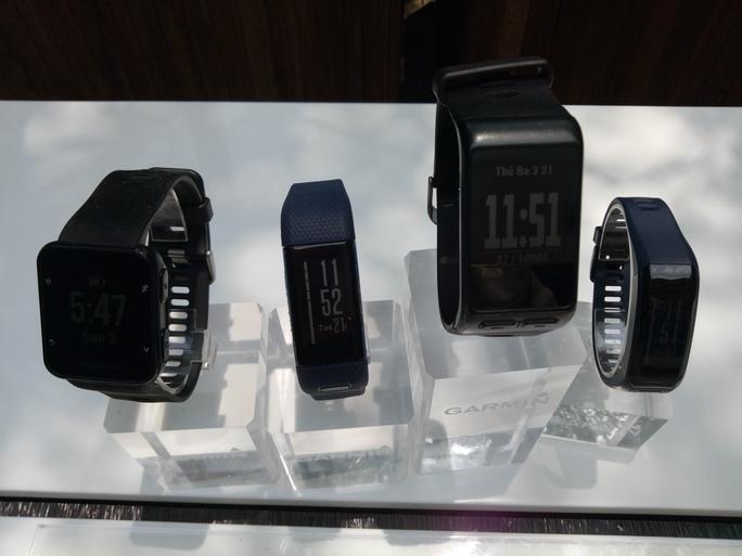 Các mẫu smartwatch mới của Garmin cho thị trường Việt Nam. Ảnh: Chánh Trung.