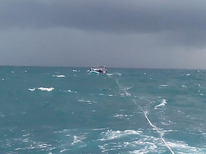 16 giờ vật lộn cứu ngư dân bị nạn khi áp thấp cận kề - Ảnh 2.