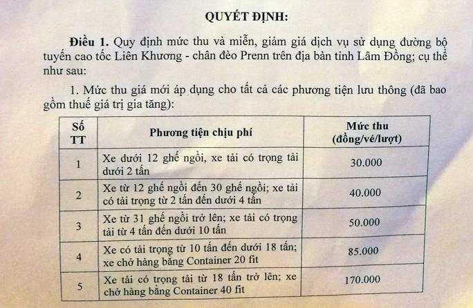 Trạm BOT Định An Đà Lạt sẽ giảm giá vé - Ảnh 1.