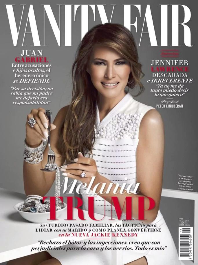 Bà Melania Trump trên trang bìa tạp chí Vanity Fair. Ảnh: EPA