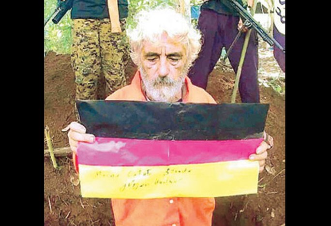 Ông Juergen Gustav Kantner, con tin người Đức trong tay nhóm Abu Sayyaf. Ảnh: TerrorEvents
