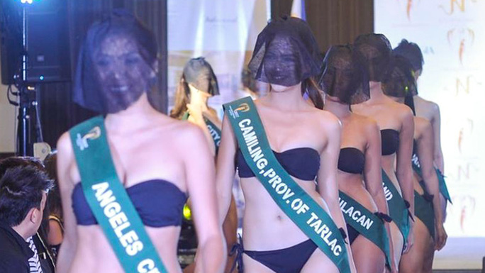 Tranh cãi việc thí sinh hoa hậu che mặt trình diễn bikini - Ảnh 2.