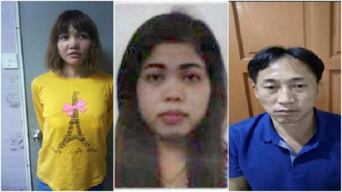 3 nghi phạm Đoàn Thị Hương, Siti Aisyah, Ri Jong-chol. Ảnh: Malaysia Chronicle