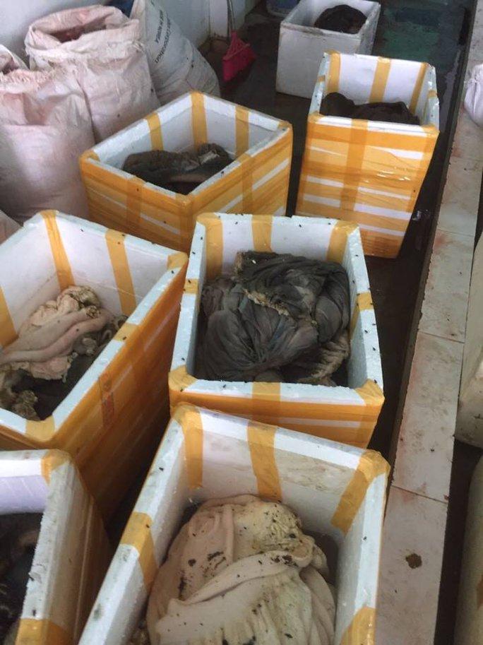 Bắt quả tang cơ sở chế biến chui gần 900 kg nội tạng động vật bẩn - Ảnh 2.
