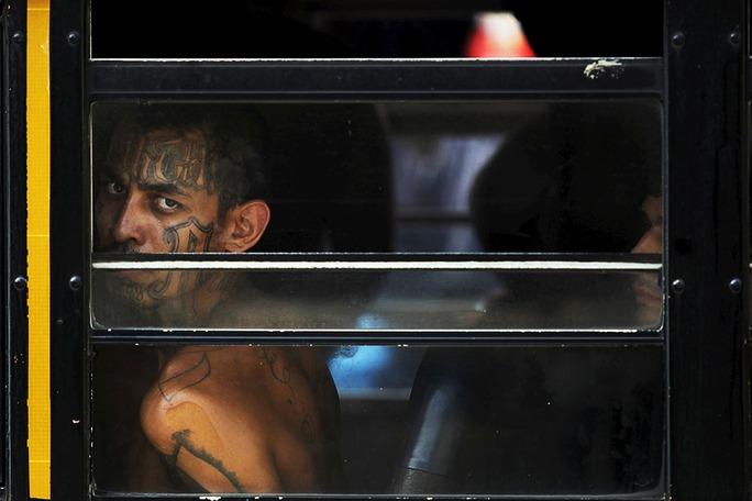 Các thành viên của MS-13 thường xăm trổ chằng chịt trên cơ thể và mặt. Ảnh: Reuters