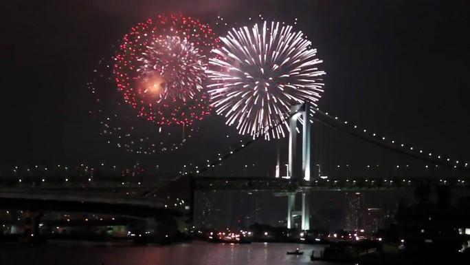 Vẻ đẹp pháo hoa ở Nhật Bản. Ảnh: Cắt clip YouTube