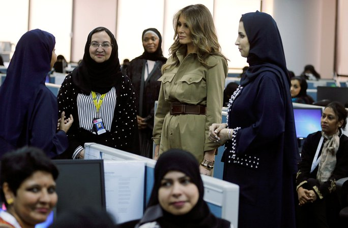 Vợ con Tổng thống Trump quyến rũ Ả Rập Saudi - Ảnh 6.