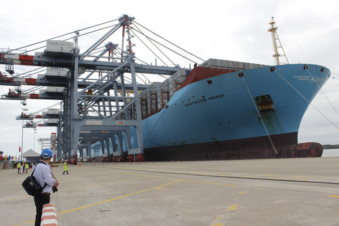 Margrethe Maersk là tàu siêu tải trọng cập cảng Cái Mép