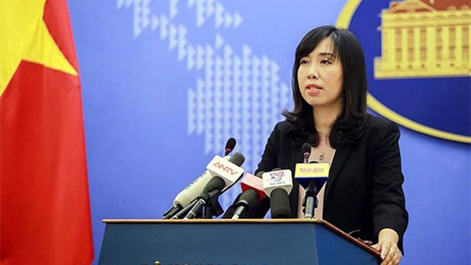Người phát ngôn lên tiếng về việc tàu sân bay Mỹ thăm Việt Nam - Ảnh 1.